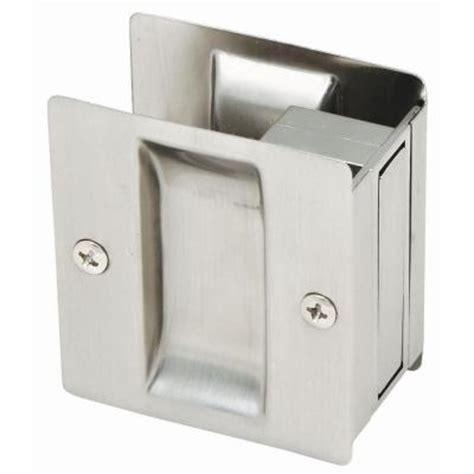 Home Depot Pocket Door Hardware by Satin Nickel Pocket Door Passage Hardware 202812 The