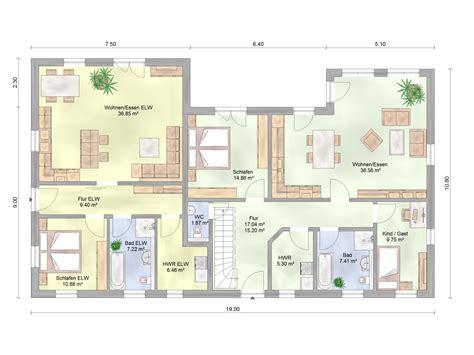 Grundriss Haus Bungalow by Winkelbungalow Mit Einliegerwohnung Amex Hausbau Gmbh