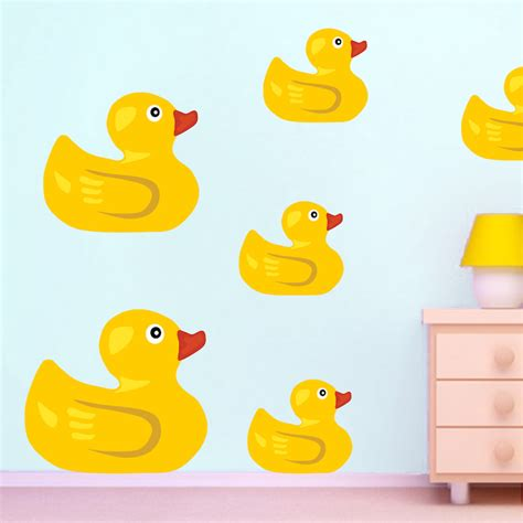 duck wall stickers rubber duck wall mural decal bathroom wall decal murals primedecals