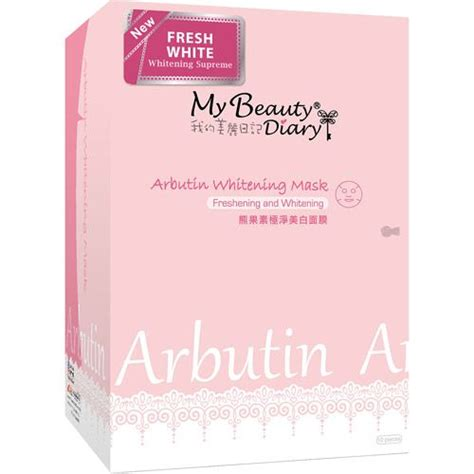 my diary arbutin whitening mask reviews photos