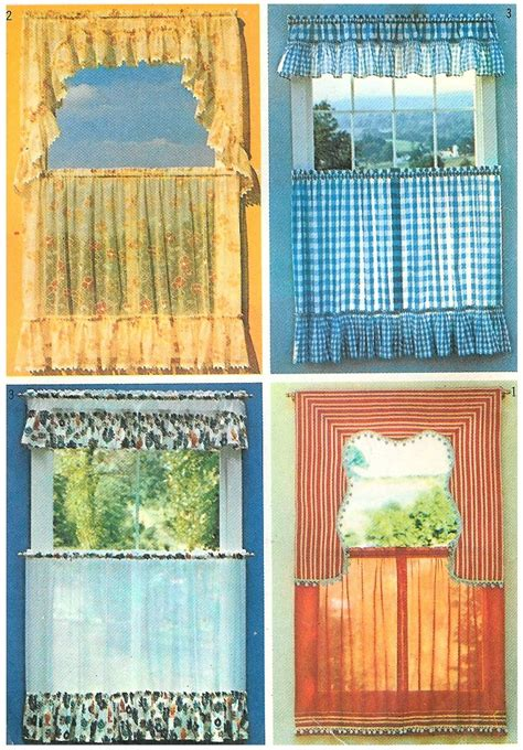 vintage cafe curtains 70 s cafe curtain sewing pattern vintage window topper