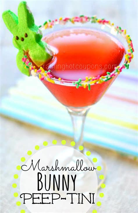 martini peep marshmallow bunny peep tini easter martini raining