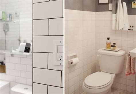 bathroom tile grout pros cons dark grout in the bathroom apartment therapy