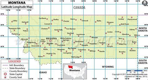 latitude and longitude maps montana latitude and longitude map usa maps
