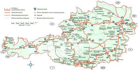 austria map with cities large detailed highways map of austria with cities and