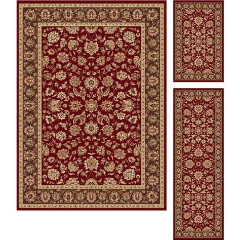 accent rug sets tayse international trading red gold 3 piece set