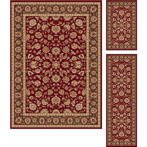 three rug set tayse international trading gold 3 set elegance area rug