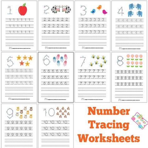 printable leaves with numbers number tracing worksheets free printable coloring