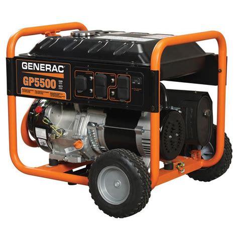 generac 5 500 watt gasoline powered portable generator