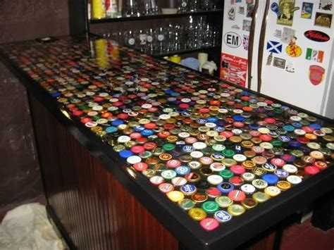 how to make a bottle cap bar top 17 creative diy bottle cap art and craft ideas to reuse