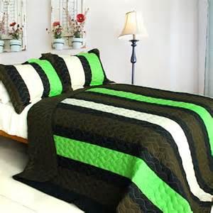 green and black comforter sets minecraft colors boy bedding quilt set