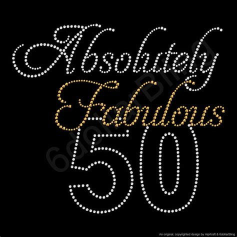 Absolutely Fabulous Fabsugar Want Need 50 by Absolutely Fabulous 50 Rhinestone Iron On Transfer Hotfix