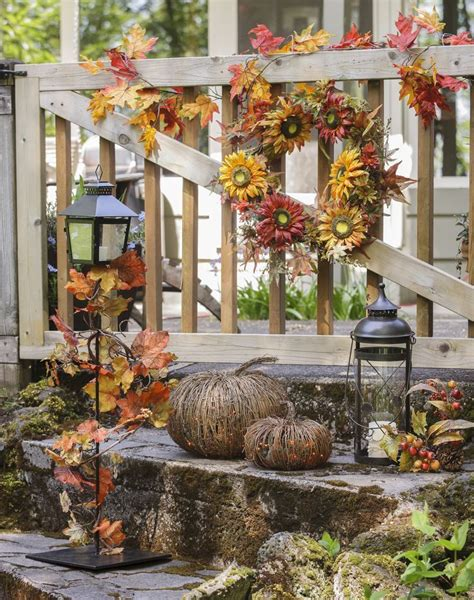 outside fall decorating ideas pictures 50 fall lanterns for outdoor and indoor d 233 cor digsdigs
