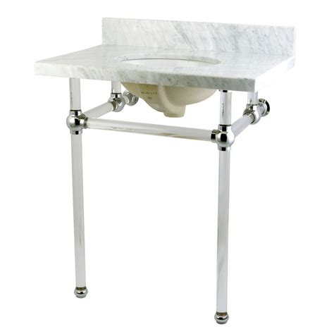 sink legs home depot kingston brass washstand 30 in console table in carrara