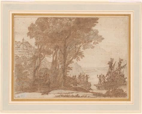 Alexandre Christie 2183 claude gell 233 e called claude lorrain landscape with aeneas landing at carthage drawings
