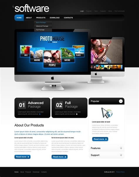 Software Company Website Template Web Design Templates Website Templates Download Software Website Template Design Software