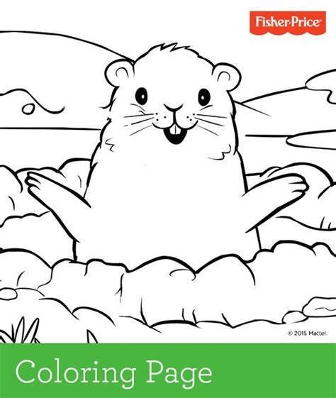 It S Easy To Get Kids In On The Groundhog Day Fun With Fisher Price Coloring Pages