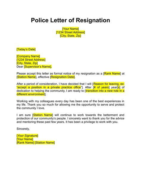month prior notice resignation sample