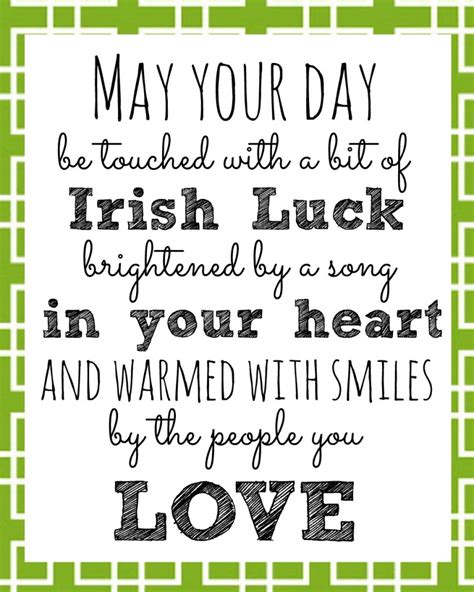 printable quotes of the day irish blessing printable for st patrick s day