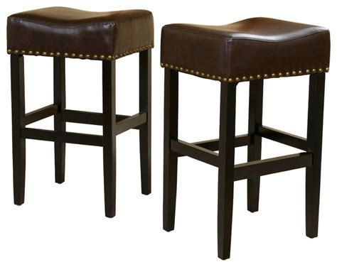 leather counter height bar stools chantal leather stools set of 2 brown bar height