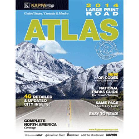 printable road atlas 2014 north america large print road atlas usa canada