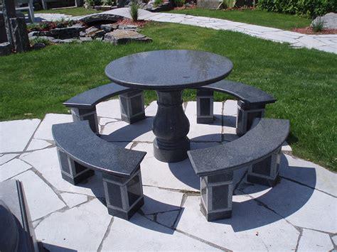 Banc En Granit by Table Et Banc De Granite Pierres Technoprofil
