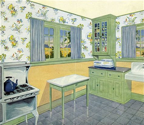 green and blue kitchen late 1920s kitchen in green yellow and blue c 1929