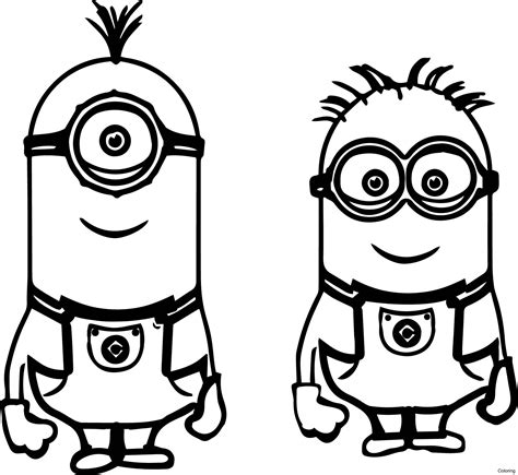 color me 2 coloring pages of minions bob new kevin bob despicable me