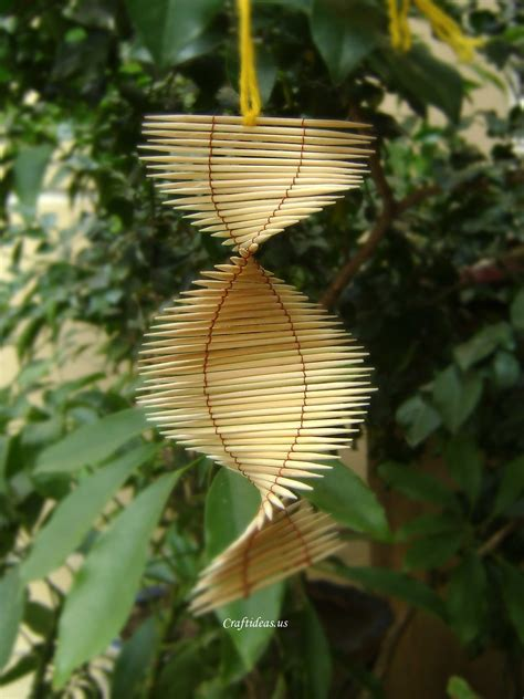 Unique Handmade Crafts - unique summer gifts toothpicks mobile tutorial craft ideas