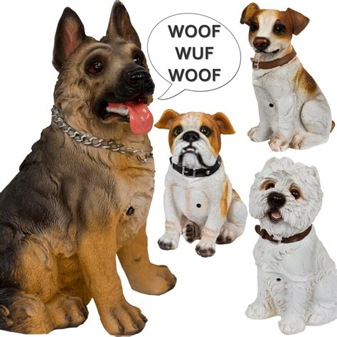 motion sensor bark special edition large barking dogs with motion activated sensor ornamental ebay