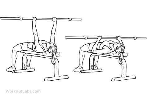 flat bench form close grip overhand barbell bench press workoutlabs