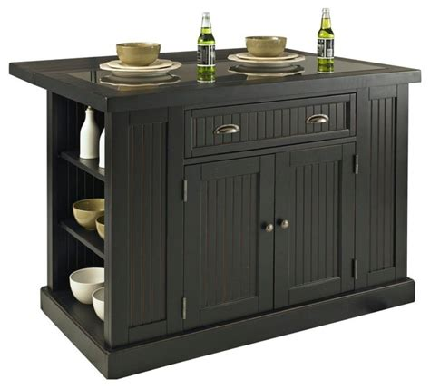 distressed black kitchen island nantucket kitchen island distressed finish modern