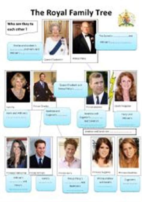 printable royal family tree english worksheet the royal family tree