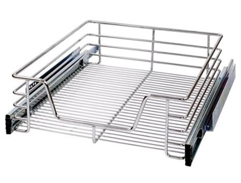 kitchen pull out chrome wire basket drawer for 400 hinged