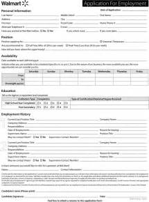 Barnes Noble Employment Walmart Application Form Employment Applications