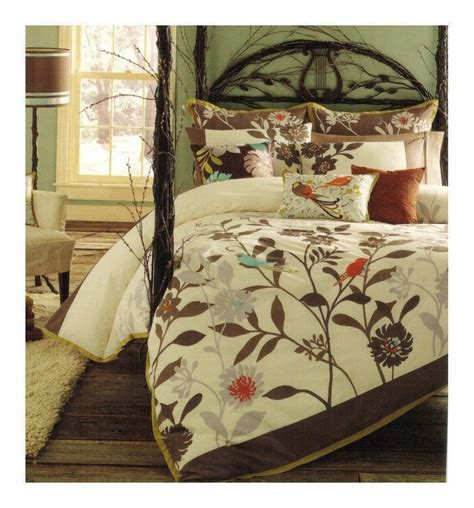 Blue And Brown Duvet Cover Details About Cynthia Rowley King 3pc Duvet Cover Set