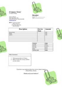 lawn mowing invoice template free free printable invoice template studio design