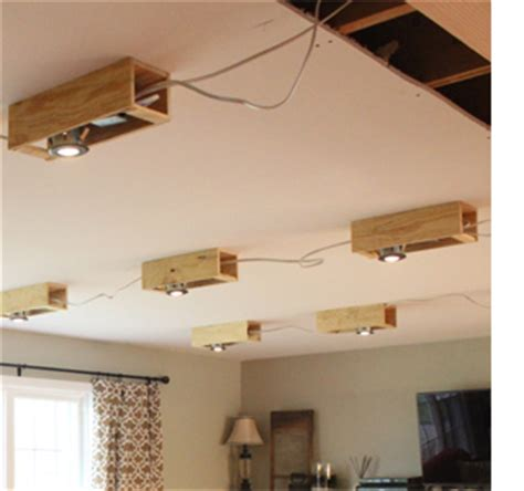 home dzine home decor faux beamed ceiling with downlights