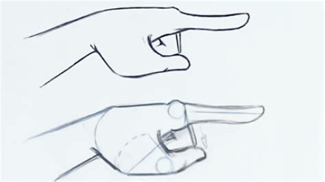 how to finger how to draw the finger pointing step by step youtube