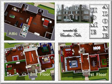 Floor Plan Free Download cerulean talon s home alone house