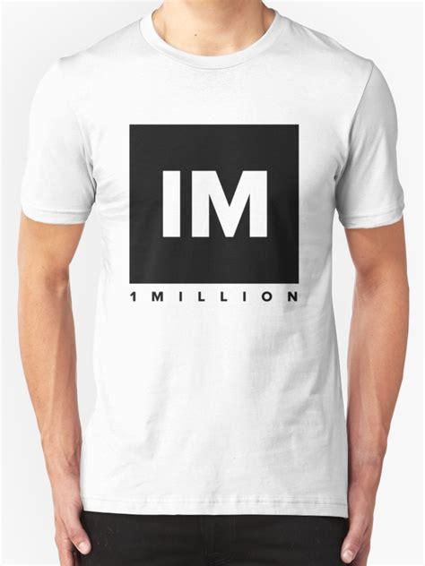 Tshirt 1 Million Studio 1 quot 1 million studio logo black version quot t shirts