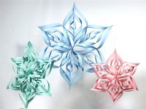 how to make paper snowflakes from frozen wwwimgkidcom diy 3d frozen paper snowflake kids crafts easy diy