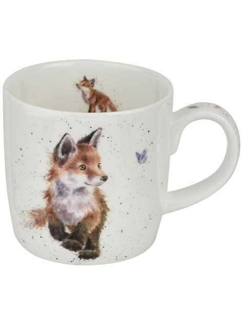 Royal Worcester Wrendale Fox Mug, Multi, 310ml at John