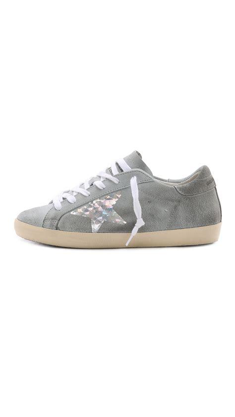 golden goose low top sneakers golden goose deluxe brand low top sneakers grey silver