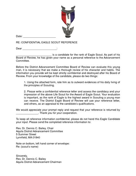 Recommendation Letter Eagle Scout Best Photos Of Eagle Scout Recommendation Reference Letter Sle Eagle Scout Recommendation