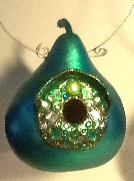 Green Gourd L by Green Jeweled Birdhouse Ladeda Gourds L Caldwell