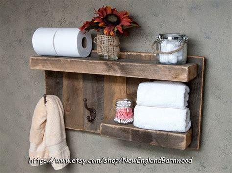 bathroom shelves with hooks bathroom shelf with hooks rustic bathroom decor rustic