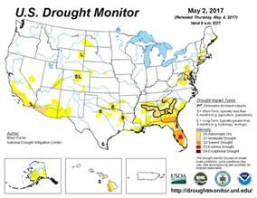 drought map u s drought monitor update for may 2 2017 national