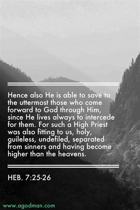 Jesus Saves To The Uttermost by As Our High Priest Is Able To Save Us To The