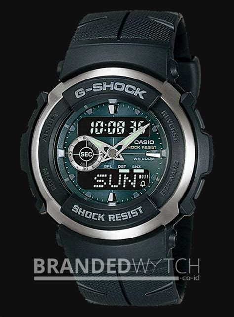Jam Tangan Pria Casio G Shock Dualtime Black List casio g shock g 300 3avdr black brandedwatch co id